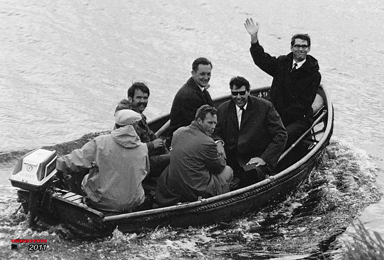 Op deze OmroepFoto : In het bootje oa. : Jaap Guyt, Ruud Monnikendam, Karel Kostman en Ab Bannink(?)
