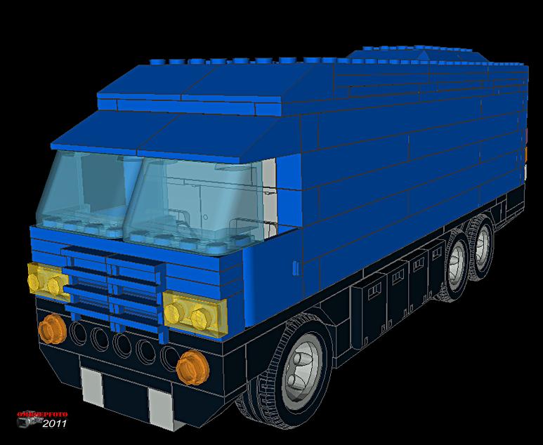 """Doos 163 Foto 3258. Project """"Reportagewagen van Lego"""" van Erik Snel"""