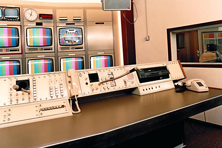Op deze OmroepFoto : Positie regie-assistentie met ingebouwde VHS