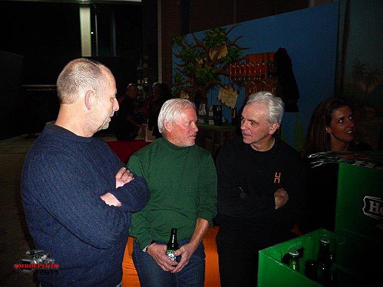 Op deze OmroepFoto : Hans Knecht, Ben Berkholst, Paul Peters en Floor van de Kooi