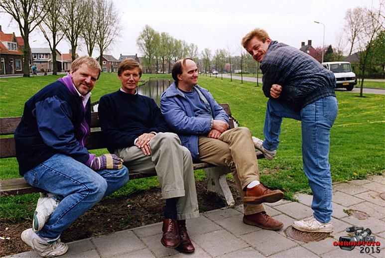 Op deze OmroepFoto : V.l.n.r. Meindert van der Meulen, Rudolf Spoor, Johan Komen en Hans Röling.
