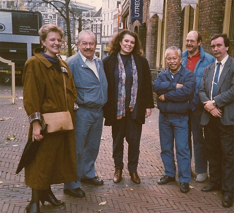 Op deze OmroepFoto : Eind jaren '80 in Utrecht, bij laatste lichtshow van Otto Masno.